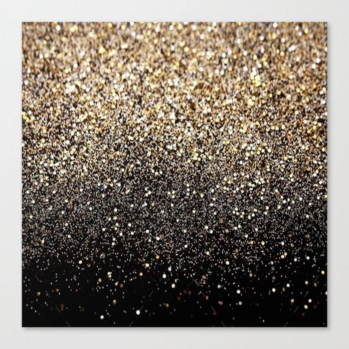Black   Gold Sparkle Canvas Print by ldor  e1ed3d3693