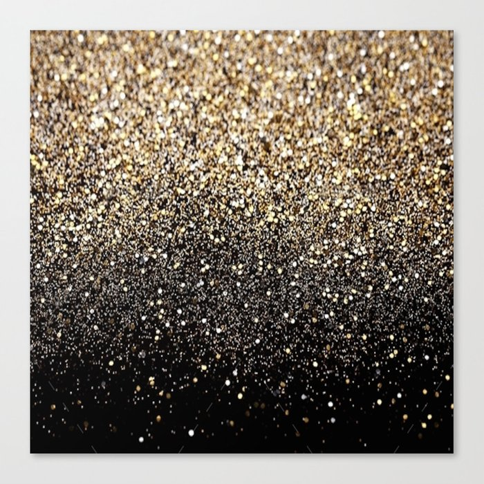 Black Royalty Glitter  Leinwanddruck