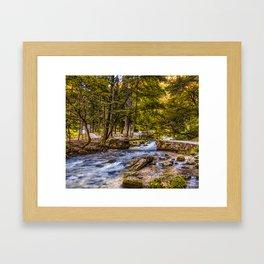 Small old bridge Framed Art Print