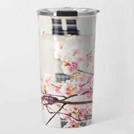 Cherry blossoms in Paris, Facades Travel Mug