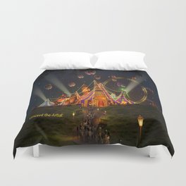 Circus from Vincent the Artist Duvet Cover