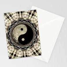 Yin Yang Geometry Mandala V1 Stationery Cards