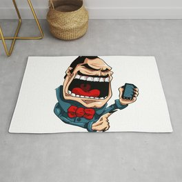 Mr. BigMouth on Social Media Rug