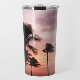 Palm Tree Sunset Travel Mug