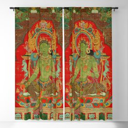 Green Tara, Tibet, 13th century Blackout Curtain