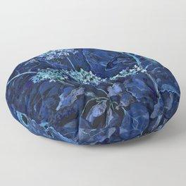 Hydrangea and Horseradish, Summer Plants, Floral Art Floor Pillow