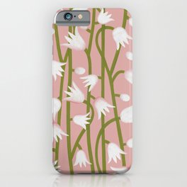 Climbing Lillies on Pink iPhone Case