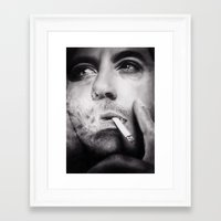 robert downey jr Framed Art Prints featuring Robert Downey Jr. by Fruzsina Nagy