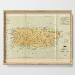 Map of Puerto RIco (Porto RIco) circa 1898 Serving Tray