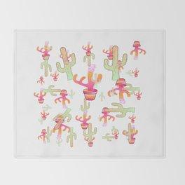 Cactus Family Day Throw Blanket