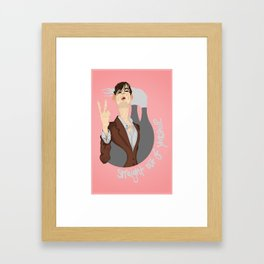 Straight out of Yorkshire Framed Art Print
