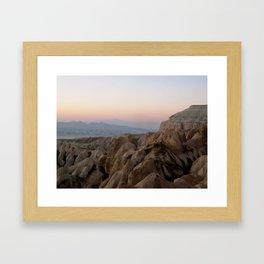 Sunset Over Kapadokya Framed Art Print