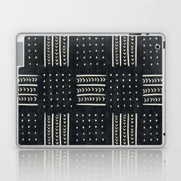 Mud cloth in black and white Laptop & iPad Skin