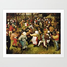 Pieter Bruegel The Elder - The Wedding Dance Art Print