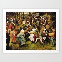 Pieter Bruegel The Elder - The Wedding Dance Art Print