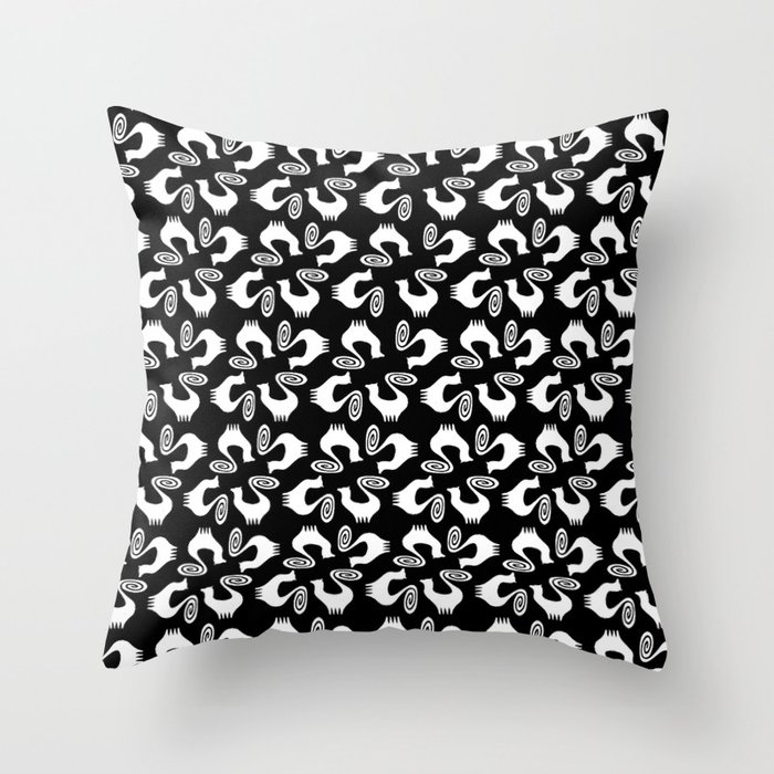 Snooty pattern Throw Pillow