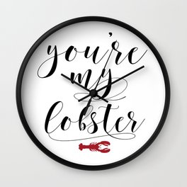 You're my Lobster, FRIENDs TV Show Quote, Friends Printable Wall Decor, Friends Poster, Friends Wall Clock