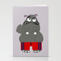 hippo Stationery Cards featuring Hippo by lescapricesdefilles