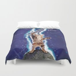 Lightning Cat Duvet Cover