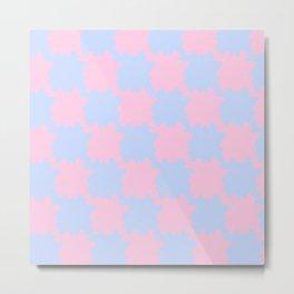 Tesselation blue and periwinkle Metal Print