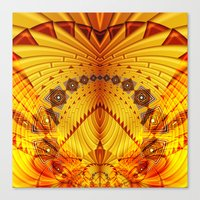 pyramid Canvas Prints featuring Pyramid by Christine baessler