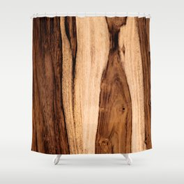 Sheesham Wood Grain Texture, Close Up Shower Curtain