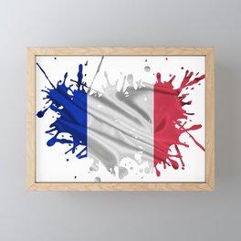 The French Flag Framed Mini Art Print