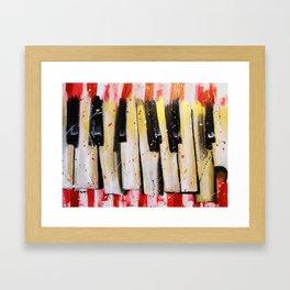 Broken Keys...Red Framed Art Print