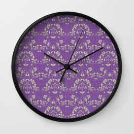 repeating pattern - Purple Haze Wall Clock
