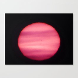 Sun Spots in Close-up sun photo Canvas Print