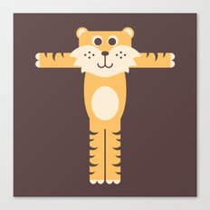 Letter T // Animal Alphabet // Tiger Canvas Print