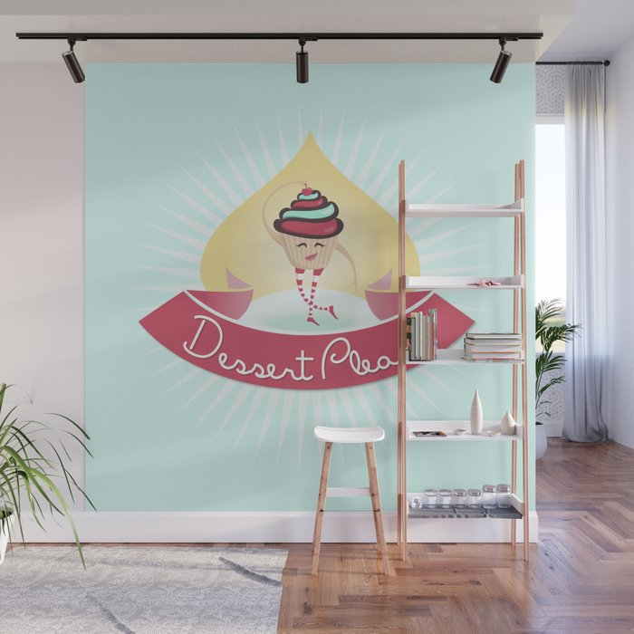 Dessert Please! (Blue) Wall Mural