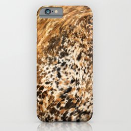 Rustic Country Western Texas Longhorn Cowhide Rodeo Animal Print iPhone Case