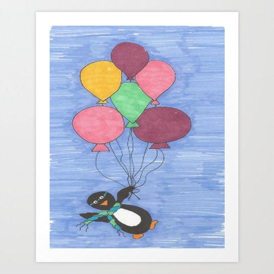 When Penguins Fly Art Print