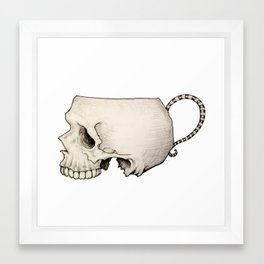 Tea Cup Skull Framed Art Print