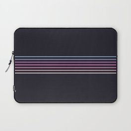 Pink Colored Retro Stripes Laptop Sleeve
