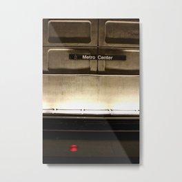metro center Metal Print