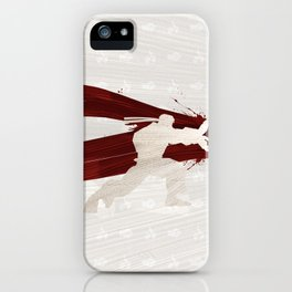 Friendship & Fireballs (Homage to Ryu of Street Fighter) iPhone Case