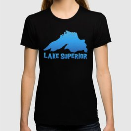 Great Lakes Lake Superior Outline T-shirt
