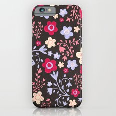 Flowers and Vines Pattern Slim Case iPhone 6s