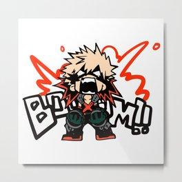 Katsuki Bakugo Booom My Hero Academia Metal Print
