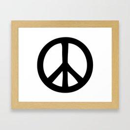 Peace Out Framed Art Print