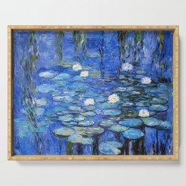 waterlilies a la Monet Serving Tray