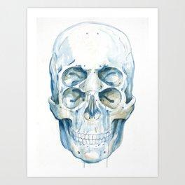 the 4i skull Art Print