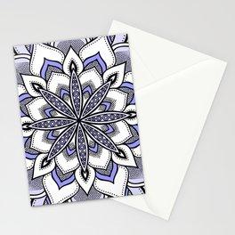 Periwinkle Flower Mandala Stationery Cards