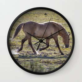 Moves of a Stallion Wall Clock