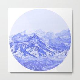 Mountains Blue Metal Print