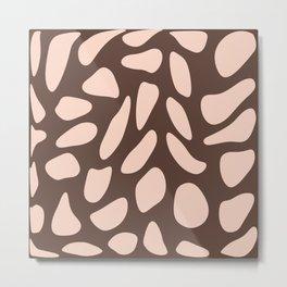 Dusty pink stones on almond brown Metal Print