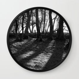 Railway Trees Wall Clock