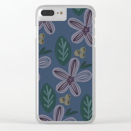 Subdued Florals Clear iPhone Case